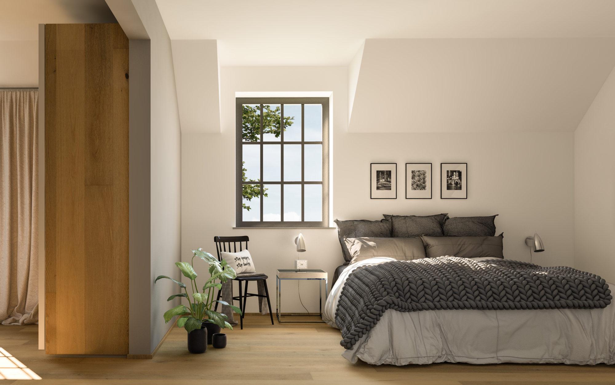 Interieur slaapkamer