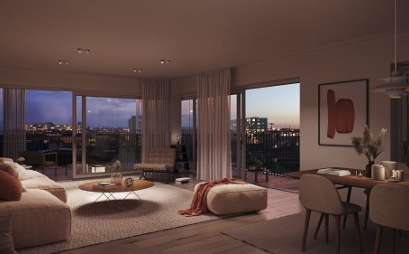 Kolmont Refuga Urban Villa Hasselt corner suites interior sunset